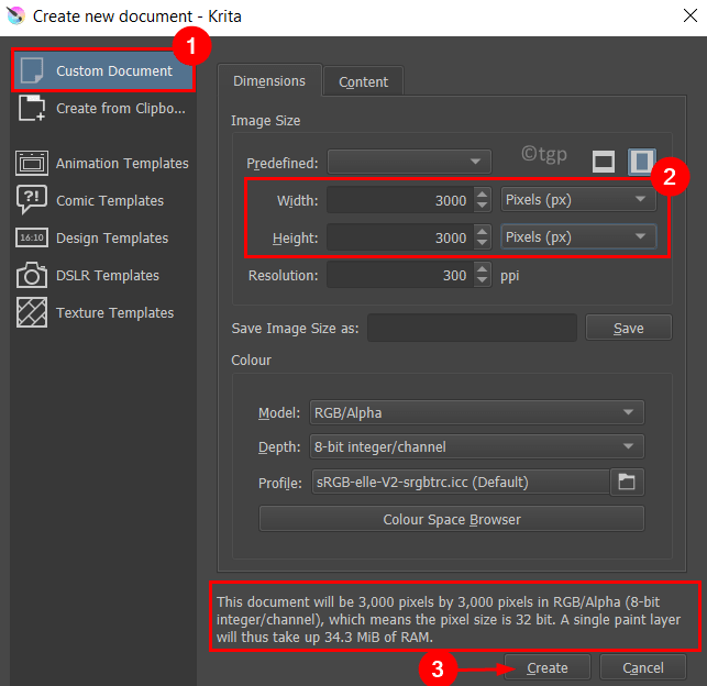 Create New Document Min
