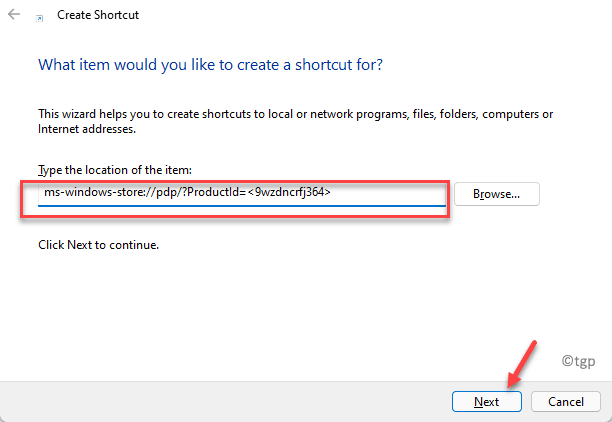 Create Shortcut Type The Location Of The Item Enter Path Replace Product Id Next Min