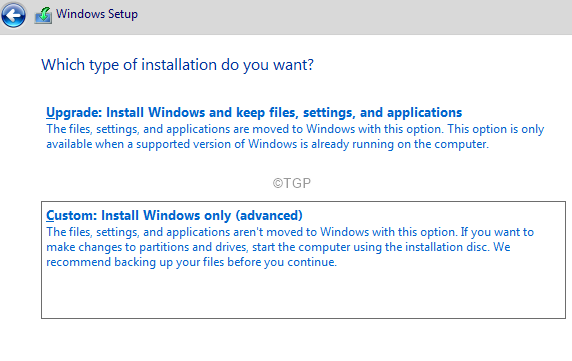 Customise Windows Setup