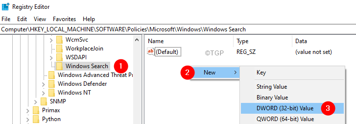 Dword 32 Bir Creation In Windows Search Folder