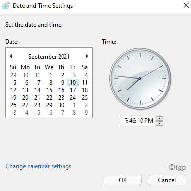 Date And Time Settings Set The Date And Time Min