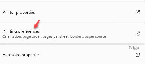 Default Printer Printing Preferences