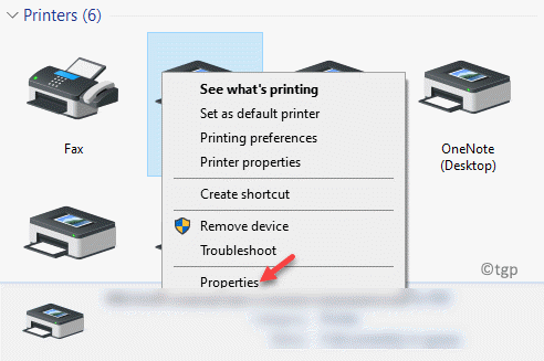 Devices And Printers Printers Right Click On The Printer Properties Min