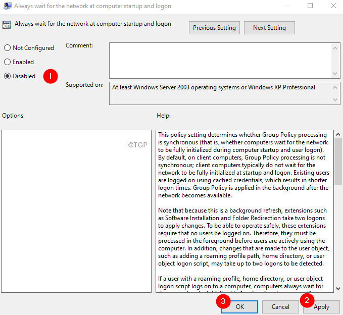 Disable Group Policy Min
