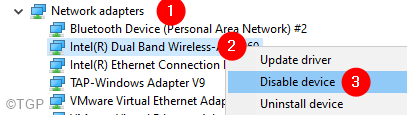 Disable Network Adapter