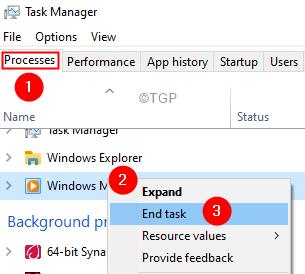 End Task Wmp