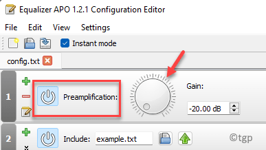 Equalizer Apo Editor Preamplification Adjust Volume Min