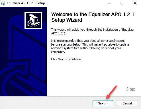 Equalizer Apo Setup Wizard Next Min