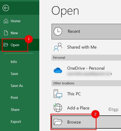 Excel File Open Min