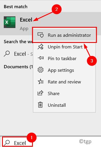 Excel Run As Admin Min