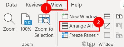 Excel View Arrange All Min