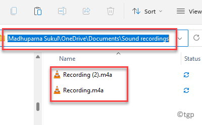 File Explorer Navigate To Onedrive Path Sound Rcordings Folder Access Recording Files