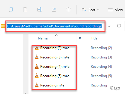 File Explorer Navigate To Path Sound Rcordings Folder Access Recording Files