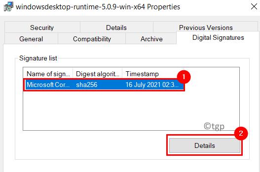 File Properties Certificate Details Min