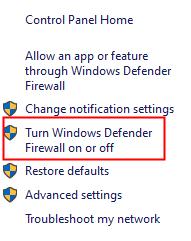 Firewall Onoff
