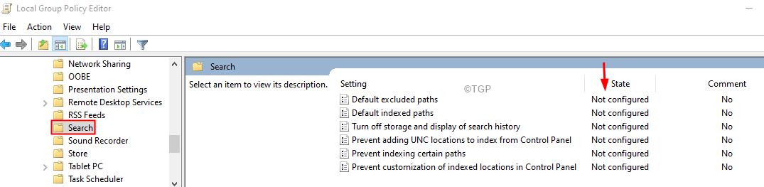 Group Policy Not Configured Min