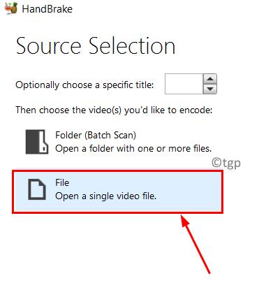 Handbrake Select Source File Min