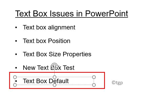 Insert Text Box After Setting Default Min