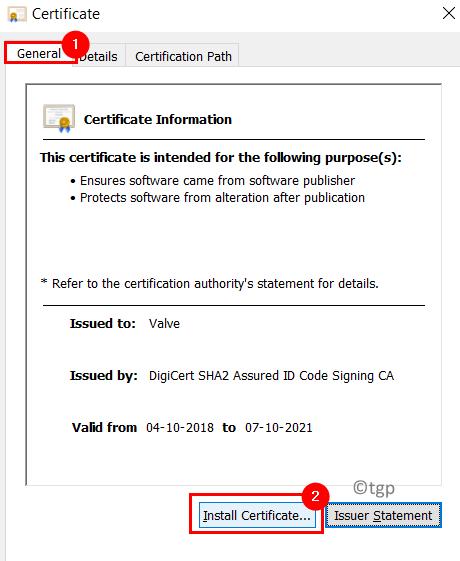 Install Certificate Min
