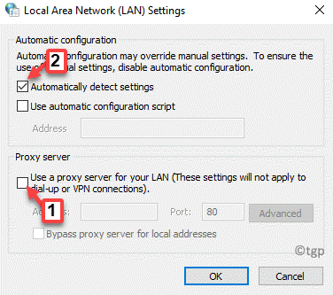 Lan Settings Use A Proxy Server For Your Lan Uncheck Automatically Detect Settings Select Min