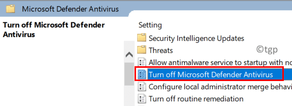 Local Group Policy Editor Turn Off Defender Min