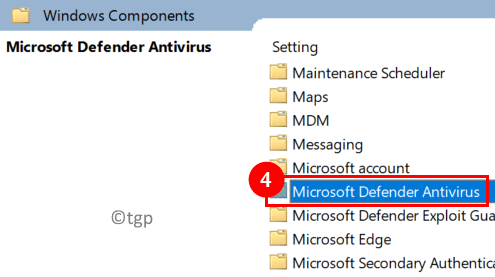 Local Group Policy Editor Windows Components Defender Min