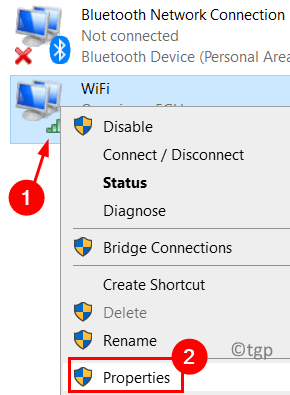 Network Connection Properties Min
