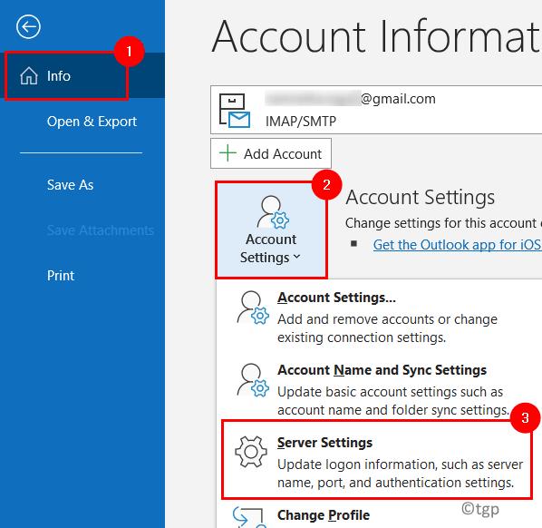 Outlook Accounte Server Settings Min