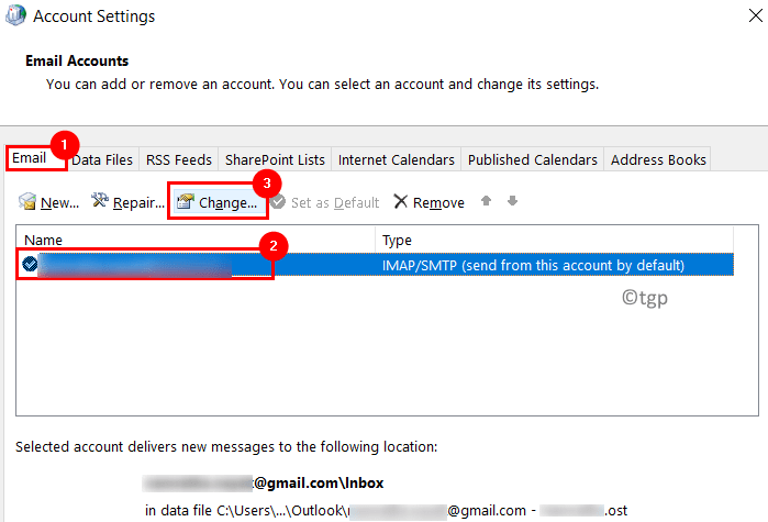Outlook Email Account Change Min