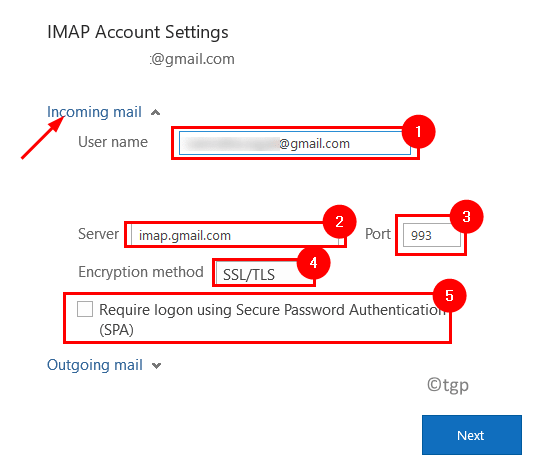Outlook Imap Incoming Mail Settings Min