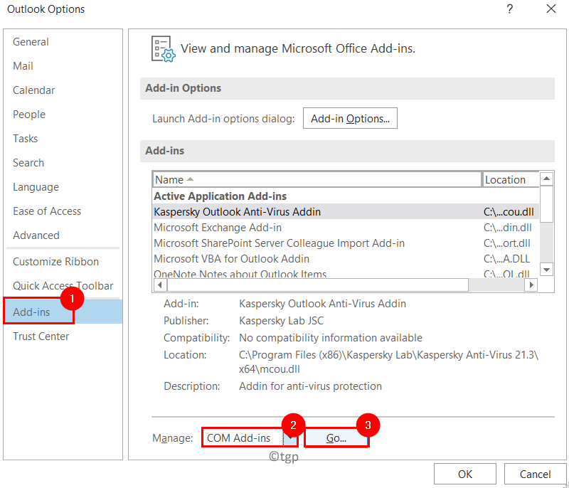 Outlook Options Add Ins Min