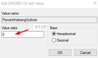 Outlook Search Set The Dword To 0