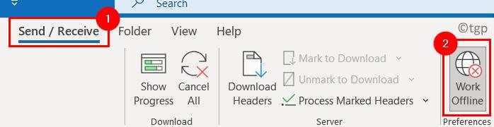 Outlook Send Recieve Work Offline Min