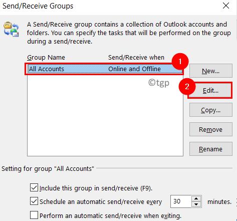 Outlook Send Recieve Groups Min