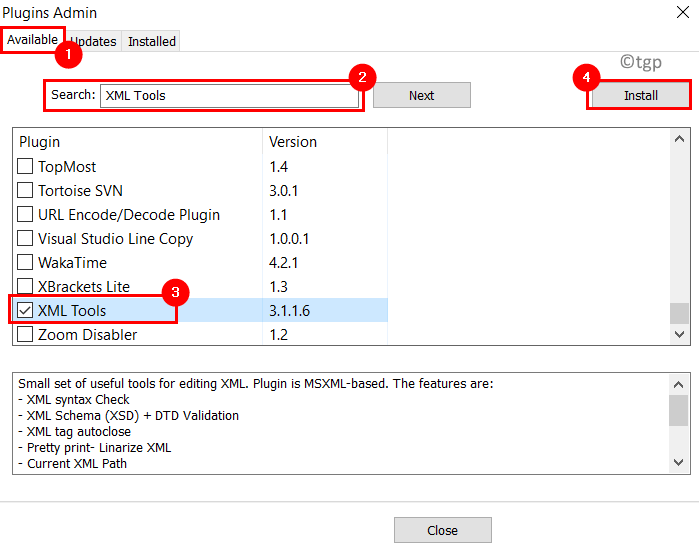 Plugins Admin Install Xml Tools Min