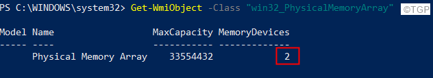 Power Shell Total Number Of Ram Slots