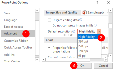 Powerpoint Options Resolution