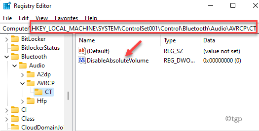 Registry Editor Navigate To Path Disableabsolutevolume Double Click Min