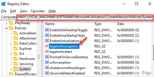Registry Editor Navigate To Path Right Side String Value Legalnoticecaption Double Click Min