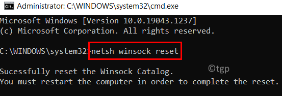 Reset Network Configurations Min