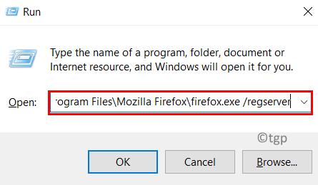 Run Firefox Regserver Min
