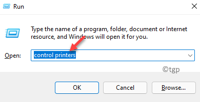 Run Command Control Printers Ok