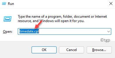 Run Command Timedate.cpl Enter