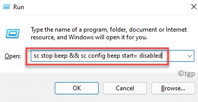 Run Command Type Command To Stop Beep Sound Enter
