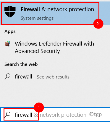 Search Firewall Network Protection Min