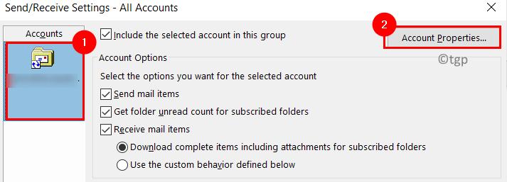 Send Recieve Account Settings Min