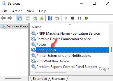 Services Name Print Spooler Double Click