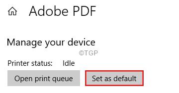 Set As Default