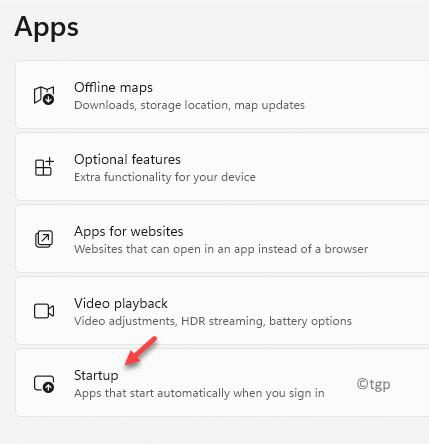 Settings Apps Startup Min