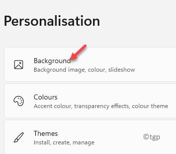 Settings Personalisation Background